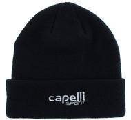 RUSH CONNECTICUT SHORELINE CAPELLI SPORT CHUNKY CUFF BEANIE -- BLACK WHITE