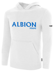 ALBION BASICS FLEECE PULLOVER HOODIE BLUE ALBION IDAHO LOGO WHITE ALBION BLUE