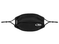 100% COTTON SPORTY PLEATED BODY FACE MASK WITH FILTER POCKET & ADJUSTABLE EAR LOOPS (FILTER PADS NOT INCLUDED) -- BLACK  - VA