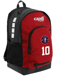 CLERMONT FC CS II BACKPACK BLACK RED WHITE