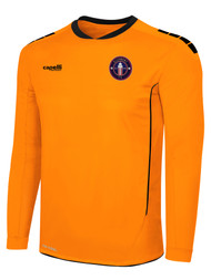 CLERMONT FC SPARROW II LONG SLEEVE GOALKEEPER JERSEY WITH PADDING NEON ORANGE BLACK