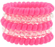 CLERMONT FC 5 PACK PLASTIC PHONE CORD PONIES  PINK