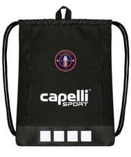"""CLERMONT FC CS II DELUXE SACK PACK 18""""H x 14.5""""W x .5""""  BLACK WHITE"""