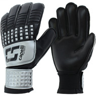 CLERMONT FC 4-CUBE TEAM GOALKEEPER GLOVES -- BLACK SILVER