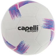 CLERMONT FC TRIBECA STRIKE TEAM, MACHINE STICHED SOCCER BALL BRIGHT PINK PROMO BLUE
