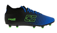 CLERMONT FC FUSION I FG FIRM GROUND SOCCER CLEATS PROMO BLUE NEON GREEN BLACK