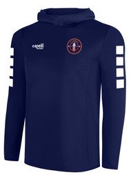 CLERMONT FC BASICS HOODIE TRAINING TOP -- NAVY WHITE