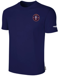 CLERMONT FC BASIC SHORT SLEEVE COTTON T-SHIRT CREST ON WEARERS LEFT CHEST NAVY WHITE