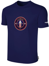 CLERMONT FC BASIC SHORT SLEEVE COTTON T-SHIRT CREST ON WEARERS CENTER CHEST NAVY WHITE