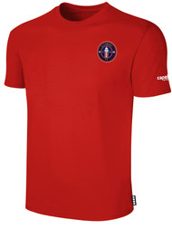 CLERMONT FC BASIC SHORT SLEEVE COTTON T-SHIRT CREST ON WEARERS LEFT CHEST RED WHITE