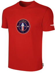 CLERMONT FC BASIC SHORT SLEEVE COTTON T-SHIRT CREST ON WEARERS CENTER CHEST RED WHITE