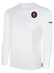 CLERMONT FC BASIC LONG SLEEVE COTTON T-SHIRT CREST ON WEARERS LEFT CHEST WHITE BLACK