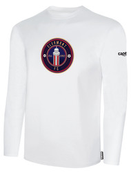CLERMONT FC BASIC LONG SLEEVE COTTON T-SHIRT CREST ON WEARERS CENTER CHEST WHITE BLACK