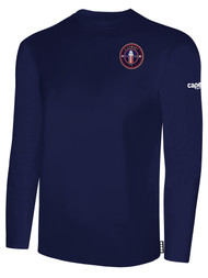 CLERMONT FC BASIC LONG SLEEVE COTTON T-SHIRT CREST ON WEARERS LEFT CHEST NAVY WHITE