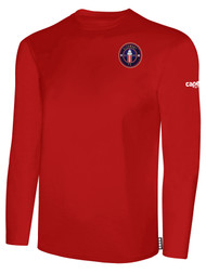 CLERMONT FC BASIC LONG SLEEVE COTTON T-SHIRT CREST ON WEARERS LEFT CHEST RED WHITE