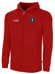 CLERMONT FC BASICS FULL ZIP HOODIE CREST ON WEARERS LEFT CHEST RED WHITE
