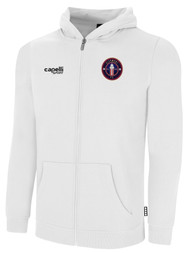 CLERMONT FC BASICS FULL ZIP HOODIE CREST ON WEARERS LEFT CHEST WHITE BLACK