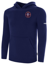 CLERMONT FC BASICS FLEECE HOODIE CREST ON WEARERS LEFT CHEST NAVY WHITE