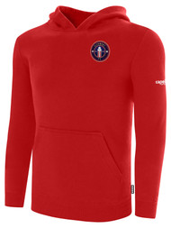 CLERMONT FC BASICS FLEECE HOODIE CREST ON WEARERS LEFT CHEST RED WHITE