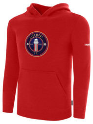 CLERMONT FC BASICS FLEECE HOODIE CREST ON WEARERS CENTER CHEST RED WHITE
