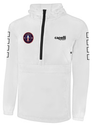 CLERMONT FC CLASSIC PACKABLE WINDBREAKER WHITE BLACK