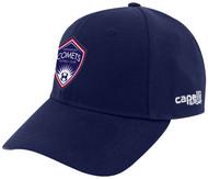 ARKANSAS COMETS CS II TEAM BASEBALL CAP NAVY WHITE