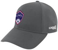 ARKANSAS COMETS CS II TEAM BASEBALL CAP DARK GREY WHITE