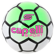 CS BOWERY HAND STITCHED  SOCCER BALL  --  NEON GREEN  WHITE BLACK
