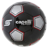 CS ASTOR HAND STITCHED SOCCER BALL  -- BLACK RED