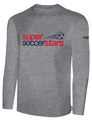 SUPER SOCCER STARS  LONG SLEEVE TSHIRTS  (YOUTH $18) -  (ADULT $20)  - GREY