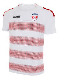 MONTANA YOUTH SOCCER MADISON STRIPE SHORT SLEEVE AWAY JERSEY WHITE RED