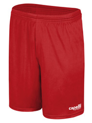 MONTANA YOUTH SOCCER CS ONE MATCH SHORTS RED WHITE