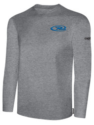 VIRGINIA RUSH LONG SLEEVE TSHIRT   -- LIGHT HEATHER GREY