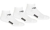 RUSH VIRGINIA CAPELLI SPORT 3 PACK LOW CUT SOCKS-- WHITE