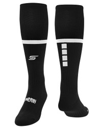 COAST FA TRAVEL SOCKS   --  BLACK WHITE