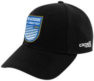 BEACHSDIE CS TEAM BASEBALL CAP  --  BLACK WHITE