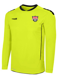 EASTERN PIKE SPARROW II LONG SLEEVE GOALKEEPER JERSEY WITH PADDING NEON YELLOW BLACK