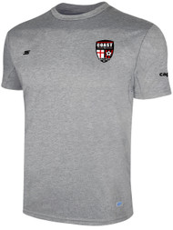 COAST FA TRAVEL TRAINING TEE   --  LIGHT HEATHER GREY