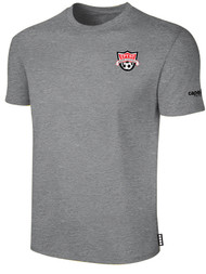 EASTERN PIKE SHORT SLEEVE COTTON T-SHIRT EASTERN PIKE CREST ON WEARERS LEFT CHEST LIGHT HEATHER GREY BLACK