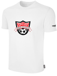 EASTERN PIKE SHORT SLEEVE COTTON T-SHIRT EASTERN PIKE CREST ON WEARERS CENTER CHEST WHITE BLACK