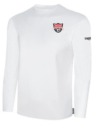 EASTERN PIKE LONG SLEEVE COTTON T-SHIRT EASTERN PIKE CREST ON WEARERS LEFT CHEST WHITE BLACK