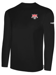 EASTERN PIKE LONG SLEEVE COTTON T-SHIRT EASTERN PIKE CREST ON WEARERS LEFT CHEST BLACK WHITE