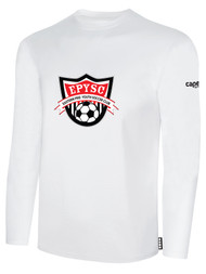 EASTERN PIKE LONG SLEEVE COTTON T-SHIRT EASTERN PIKE CREST ON WEARERS CENTER CHEST WHITE BLACK