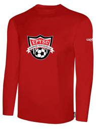 EASTERN PIKE LONG SLEEVE COTTON T-SHIRT EASTERN PIKE CREST ON WEARERS CENTER CHEST RED WHITE