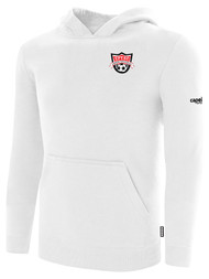 EASTERN PIKE FLEECE PULLOVER HOODIE EASTERN PIKE CREST ON WEARERS LEFT CHEST WHITE BLACK