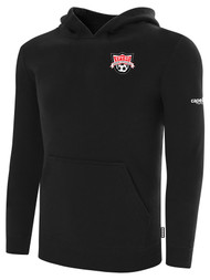 EASTERN PIKE FLEECE PULLOVER HOODIE EASTERN PIKE CREST ON WEARERS LEFT CHEST BLACK WHITE