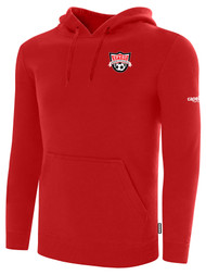 EASTERN PIKE FLEECE PULLOVER HOODIE EASTERN PIKE CREST ON WEARERS LEFT CHEST RED WHITE