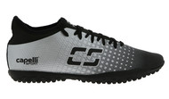 EASTERN PIKE  FUSION  TURF SOCCER SHOES BLACK/SILVER