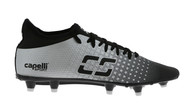 EASTERN PIKE  FUSION I FG FIRM GROUND SOCCER CLEATS BLACK SILVER