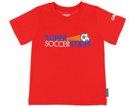 SUPER SOCCER STARS  CLASS T-SHIRT  -- RED ( 4 - 5 Years )